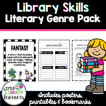 Library Skills- Literary Genre Pack