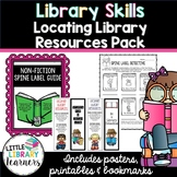 Library Skills- Locating Library Resources Pack