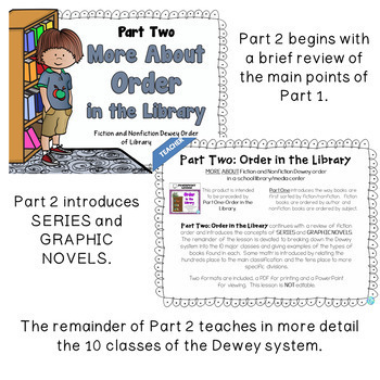 Library Skills: PART 2: More About Order in the Library Media Center