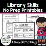 Library No Prep Printables Lower Elementary