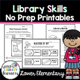 Library No Prep Printables Lower Elementary