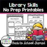Library No Prep Printables- Back to School Activities