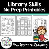 Library Skills No Prep Printables- Distance Learning