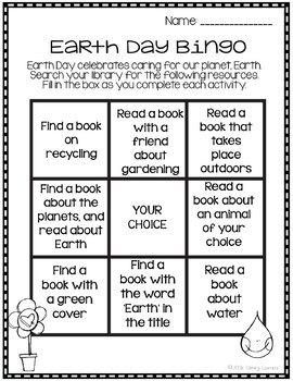 Library Skills No Prep Printables- Earth Day Themed