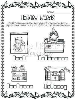 Library No Prep Printables- Halloween Themed