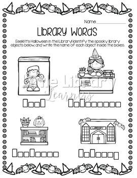 Library No Prep Printables- Halloween Themed