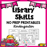 Library No Prep Printables Kindergarten