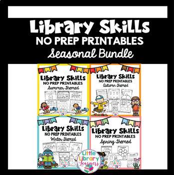 Library Skills No Prep Printables- SEASONAL BUNDLE- Summer
