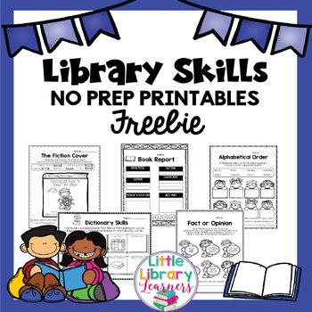 Library No Prep Printables Sampler
