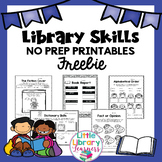 Library No Prep Printables FREEBIE