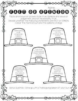 Library No Prep Printables- Thanksgiving Themed