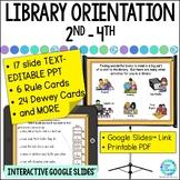 Library Orientation for Intermediate Grades Media Center Powerpoint