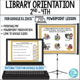 Back to School Library Orientation Lesson for 2nd to 4th