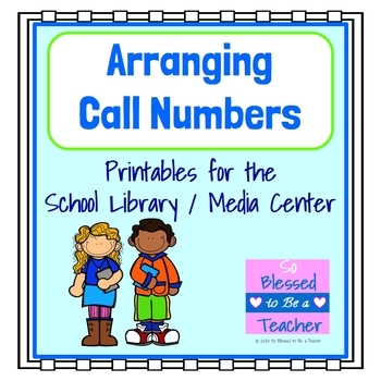 Library Skills Printable Resources - Arranging Call Numbers | TpT