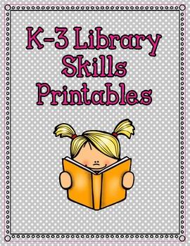 K-3 Library Skills Printables