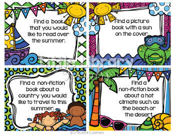 Library Skills Summer Themed BUNDLE