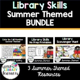 Library Skills Summer Themed BUNDLE