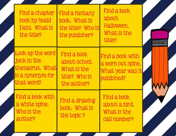 Library Skills Tic Tac Toe for SmartBoard
