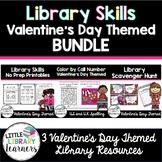 Library Skills Valentine's Day Themed BUNDLE
