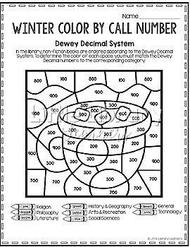 Library Skills Winter Themed BUNDLE