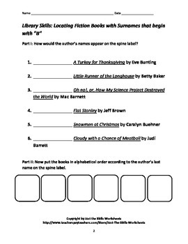 Library Skills Workbook: Locating Nonfiction Books