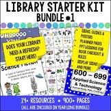 Library Starter Kit BUNDLE #1 for the Elementary School Library/Media Center