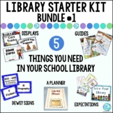 Library Starter Kit BUNDLE #1 for the Elementary School Library/Media Center