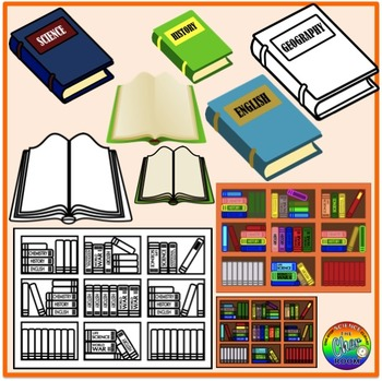 Library/Study Room Clipart (My Home Series 3)