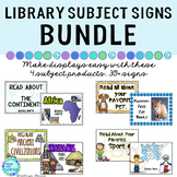 Library Signs and Posters | Nonfiction BUNDLE