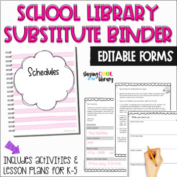 Library Substitute Binder & Lesson Plans