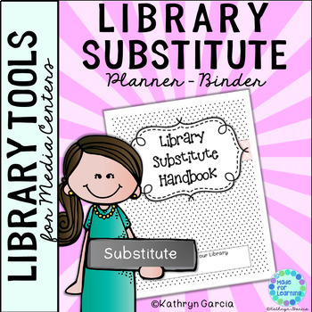Library Substitute Planner Binder
