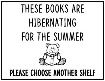 Library Summer Shelf Signs