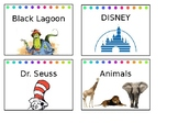 Library, Supplies, and Manipulatives Labels