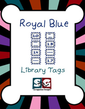 Library Tags - Royal blue