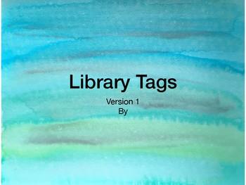 Library Tags Watercolor V1