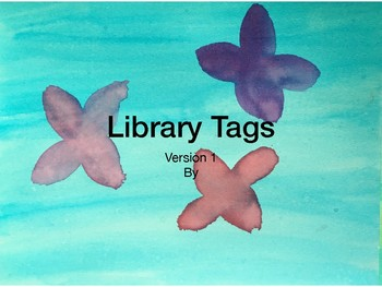 Library Tags Watercolor V2