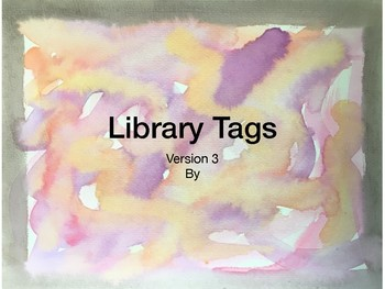 Library Tags Watercolor V3