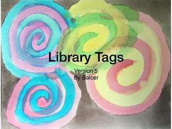 Library Tags Watercolor V5