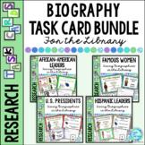 Library Skills: Task Cards for Biography BUNDLE