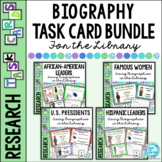 Library Biography Task Cards BUNDLE