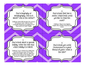 Classroom Library Task Cards