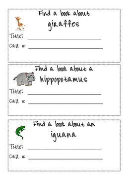 Library Task Cards Science: Animal Research