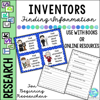 Library Skills: Task Cards for Social Studies Research: Inventors