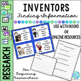 Inventors Library Research Task Cards