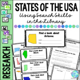 Library Research Task Cards for Social Studies States of the USA