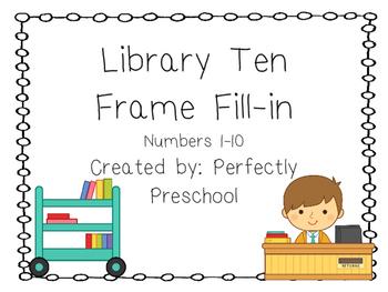Library Ten Frame Fill-in {Dollar Deal}