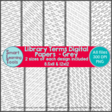 Library Terms Digital Paper - Grey