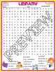 Library Activities Visit to the Library Crossword Puzzle and Word Search Find