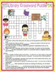 Library Visit to the Library Crossword Word Search Activities Posters Bundle