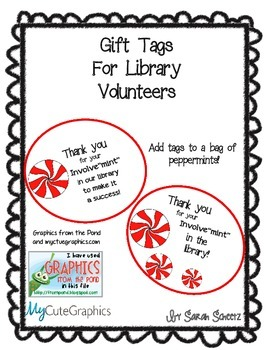 Library Volunteer Gift Tags